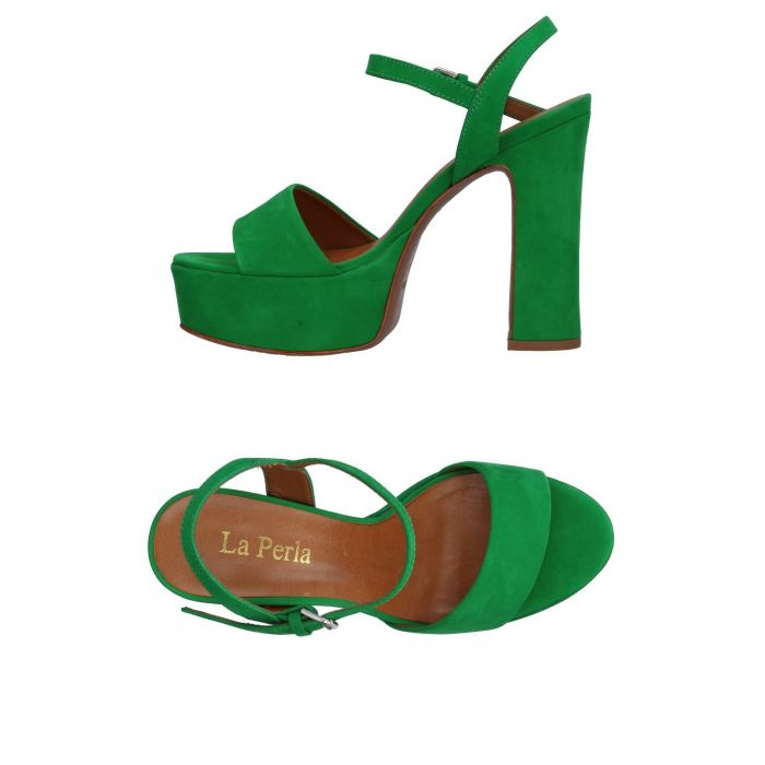 Image for La Perla Green Leather Sandali