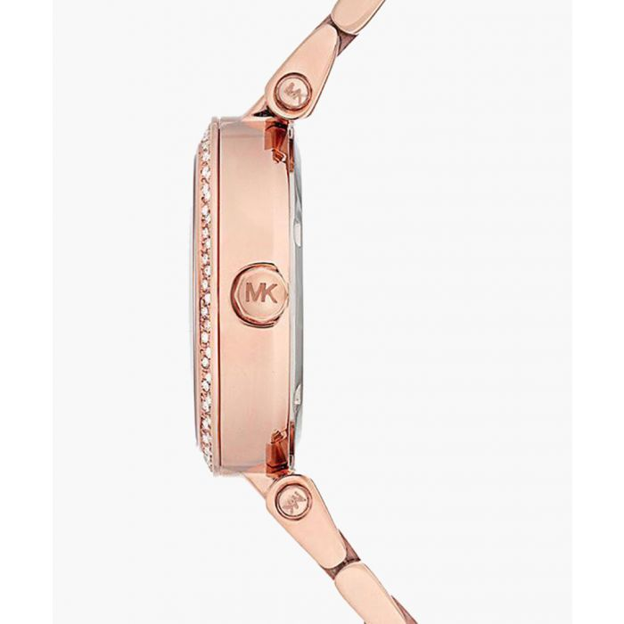 Image for Parker rose gold-tone crystal stainless steel watch