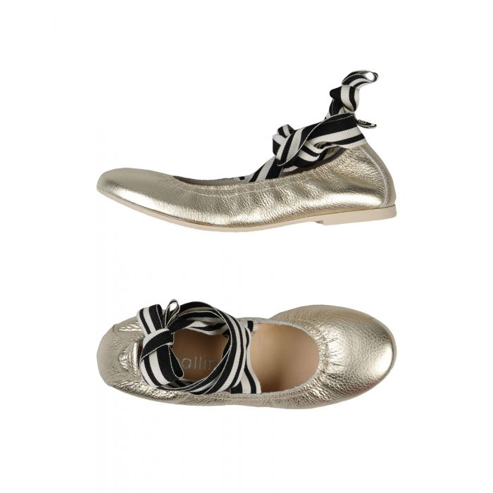 Image for Ballin Platinum Leather Ballerine