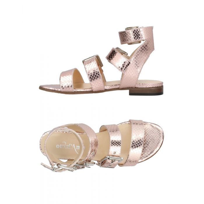 Image for Light pink leather andals