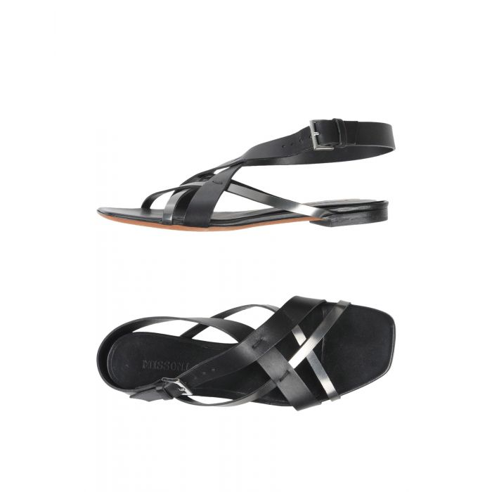 Image for Black leather sandals