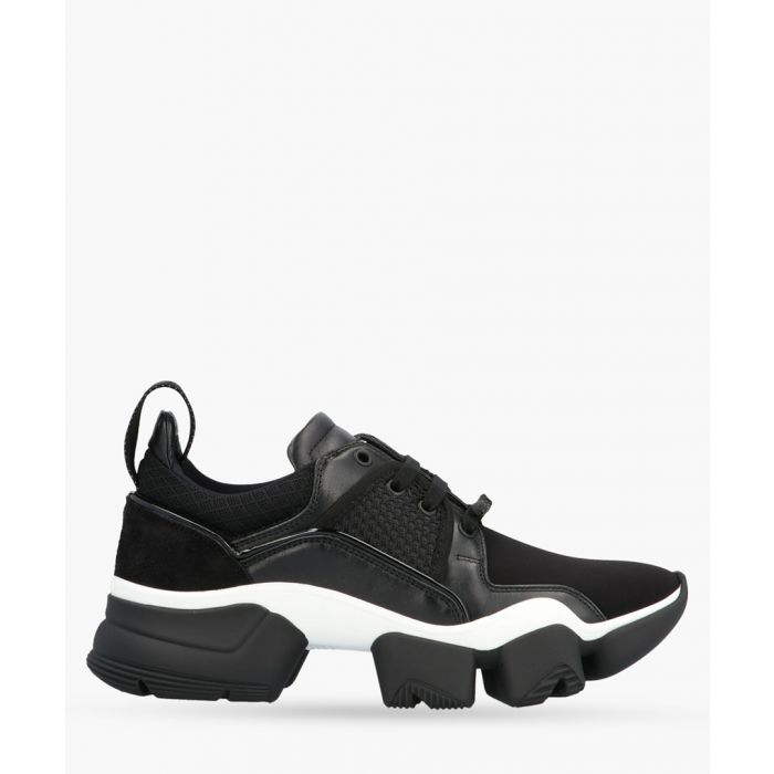 Image for Jaw black leather low-top trainers