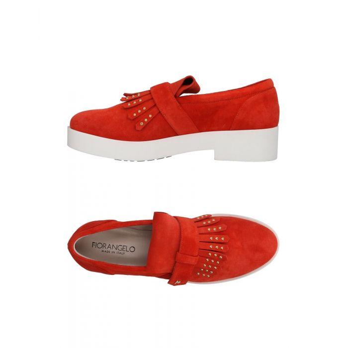 Image for Fiorangelo Red Leather Mocassini
