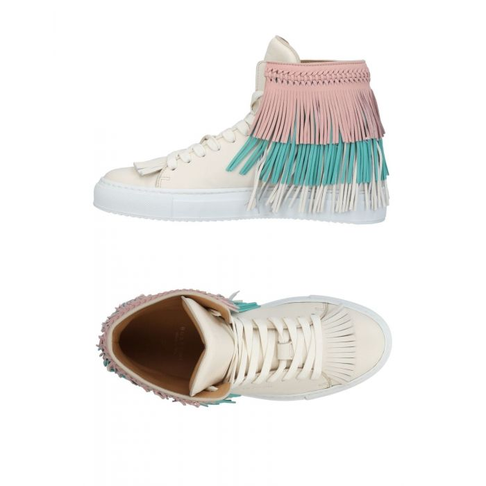 Image for Buscemi Ivory Leather Sneakers & Tennis shoes alte