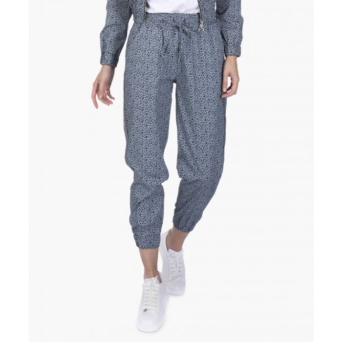 Image for Navy blue cotton joggers