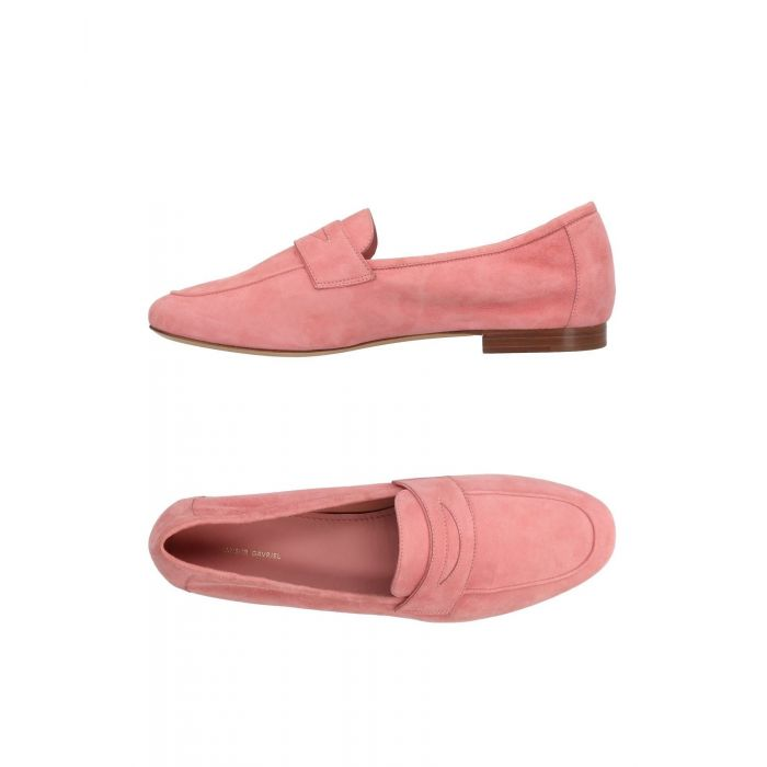 Image for Pink leather loafers