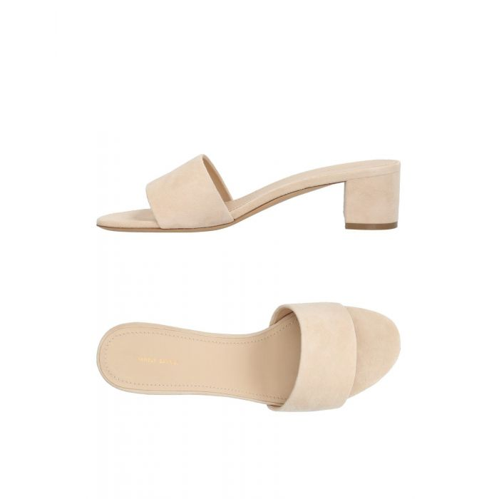 Image for Beige and black leather sandals