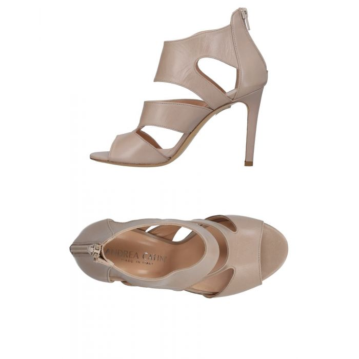 Image for Beige leather caged sandals