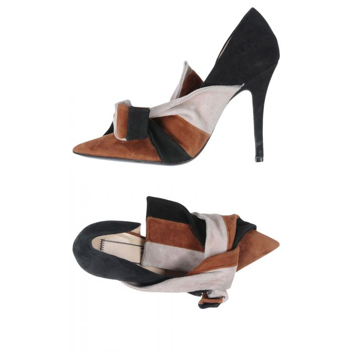 Image for Cocoa leather court shoes
