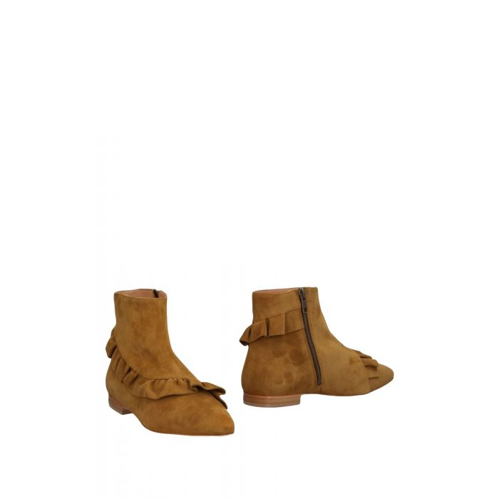 Image for Military green leather ankle boots