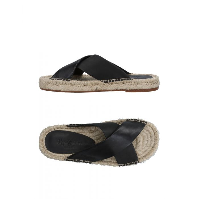 Image for Black and brown leather sandals