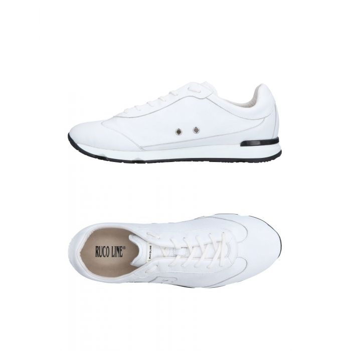 Image for Ruco Line White Leather Sneakers & Tennis shoes basse