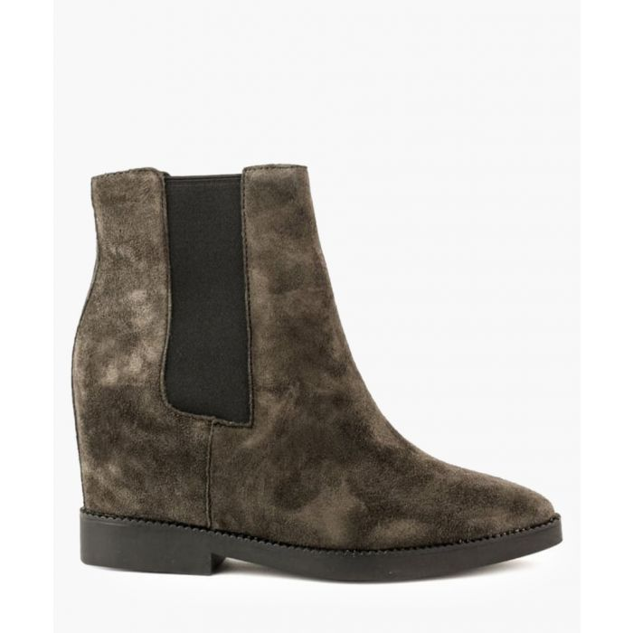 Image for Gong brown suede tall Chelsea boots