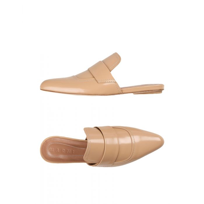 Image for Tan leather mules