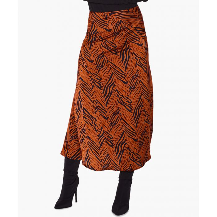 Image for Zebra satin skirt