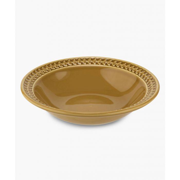 Image for 4pc Botanic Garden Harmony amber pasta bowl set