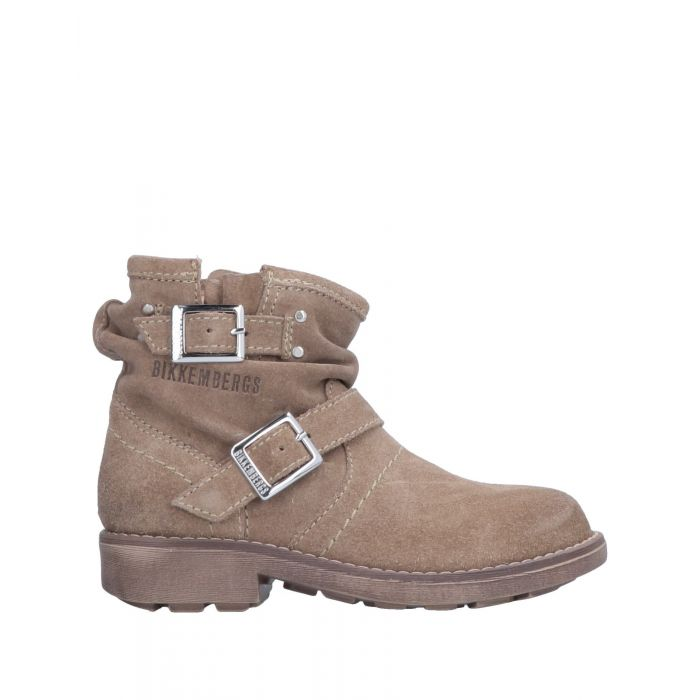 Image for Khaki buckled suede ankle boots