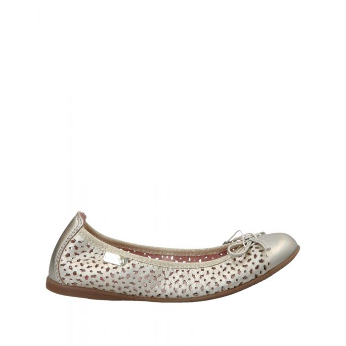 Image for Platinum leather ballet flats