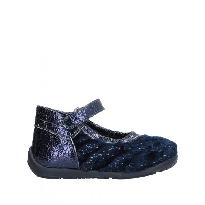 Image for Dark blue natural fibre ballet flats