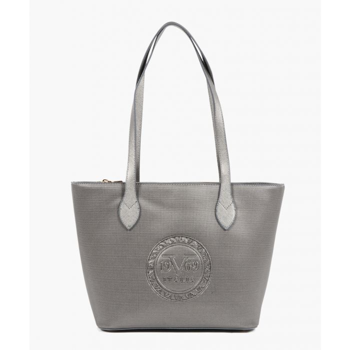 Image for Metallic embossed faux leather shopper