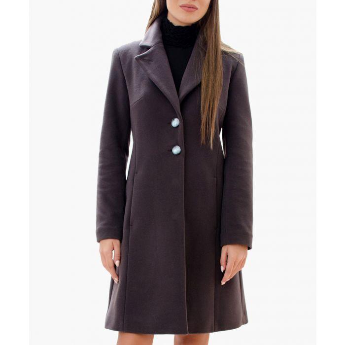 Image for Khaki Wool Blend Classic Coat