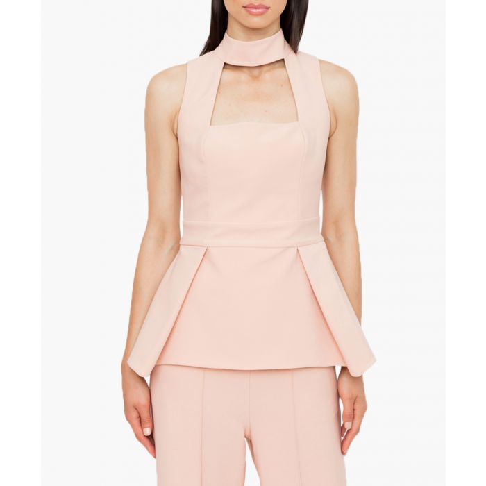 Image for Blush sleeveless peplum blouse