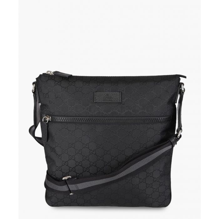 Image for Black nylon GG print large crossbody