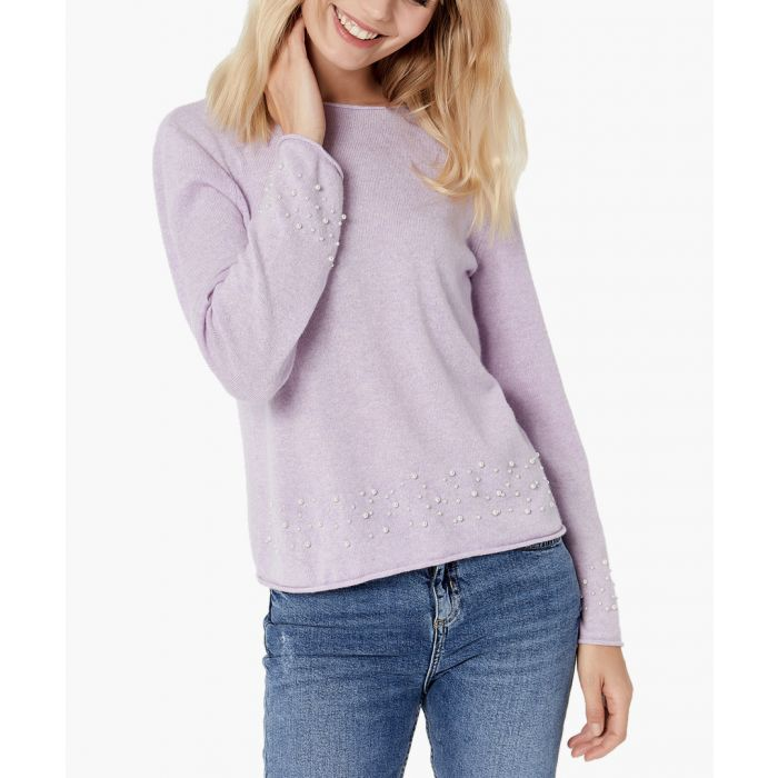 Image for Purple pure cashmere jumper