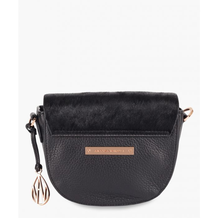 Image for Midi Duvall black leather crossbody
