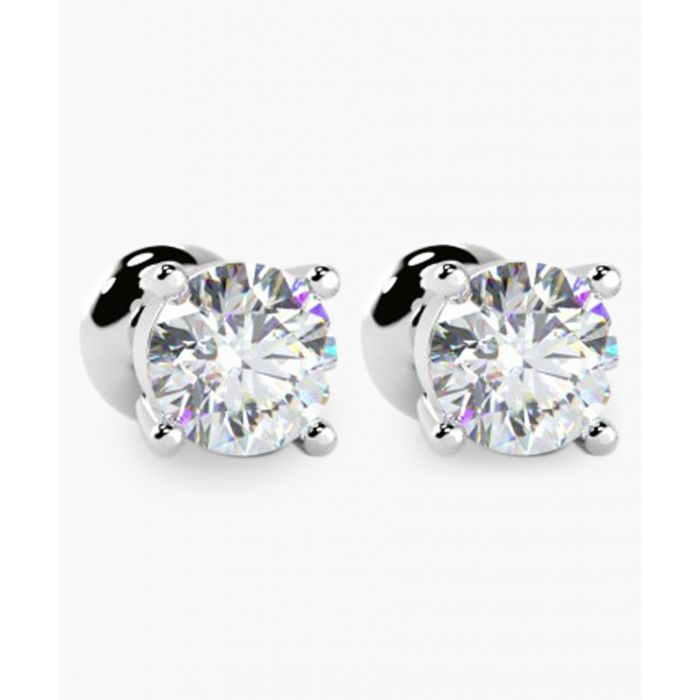 Image for Platinum and 0.40ct diamond earrings