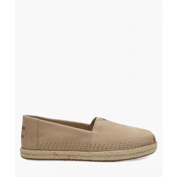 Image for Alpargata brown canvas shoes