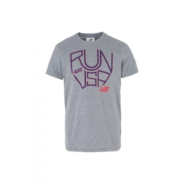 Image for New Balance Dark blue, Grey Cotton T-shirts