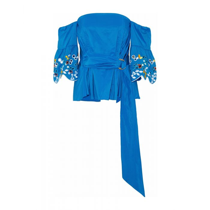 Image for Peter Pilotto Bright blue, Fuchsia Polyester Bluse