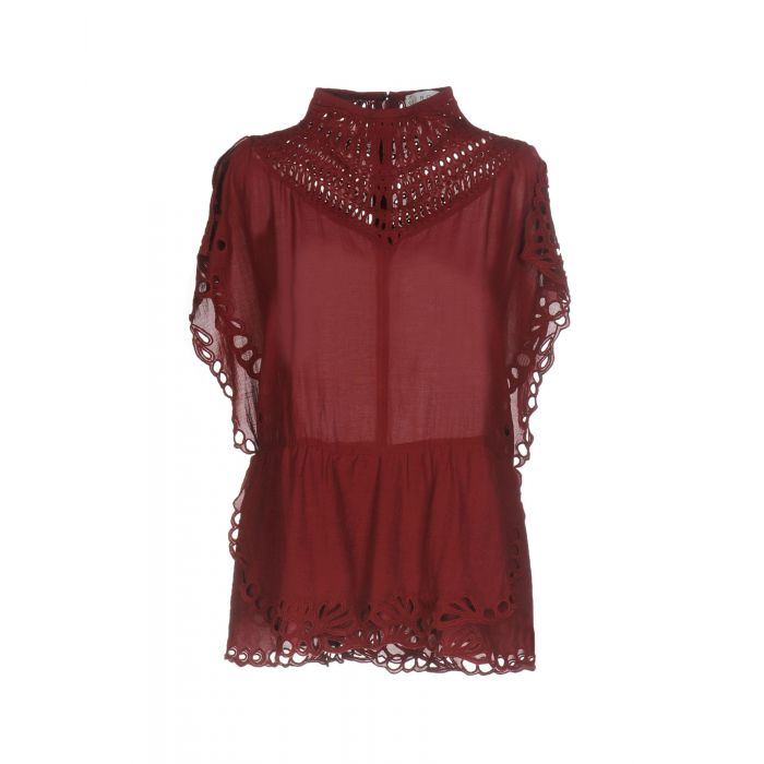Image for Maroon viscose top