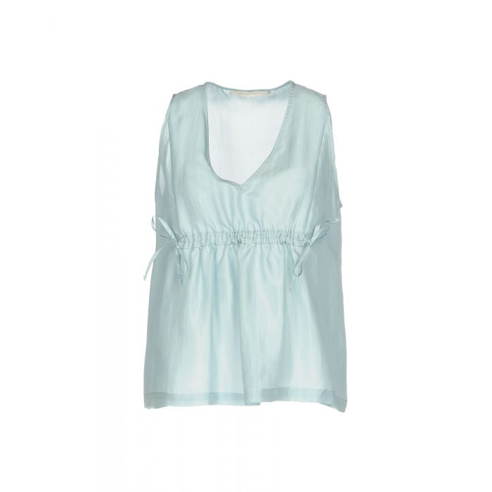 Image for Sky blue Silk Top