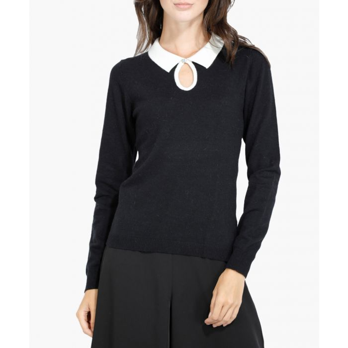 Image for Monochrome cashmere and silk blend jumper