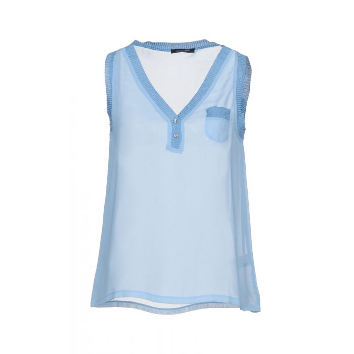 Image for Roberto Collina Sky blue Polyester Top