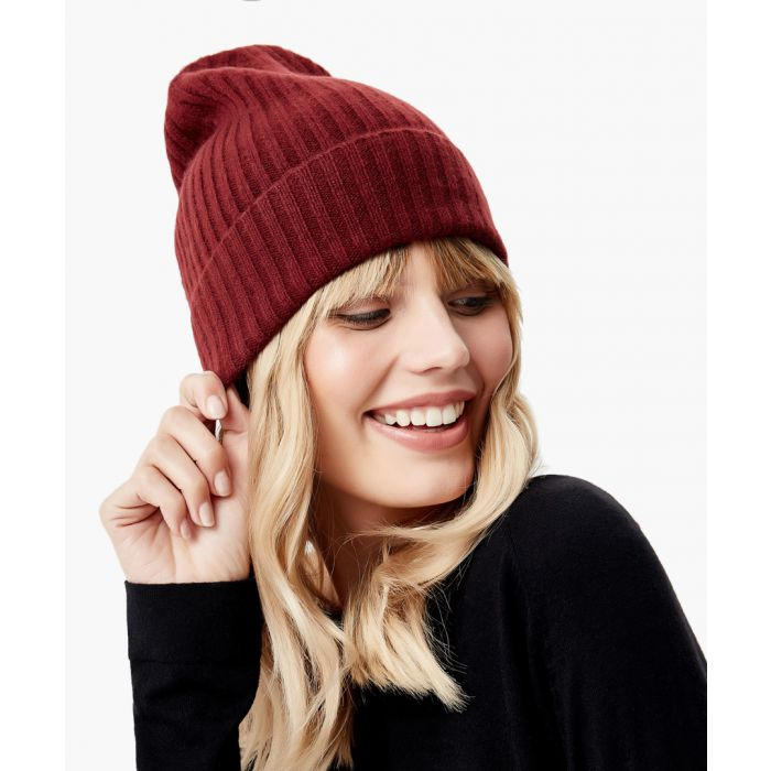 Image for Wine pure cashmere hat