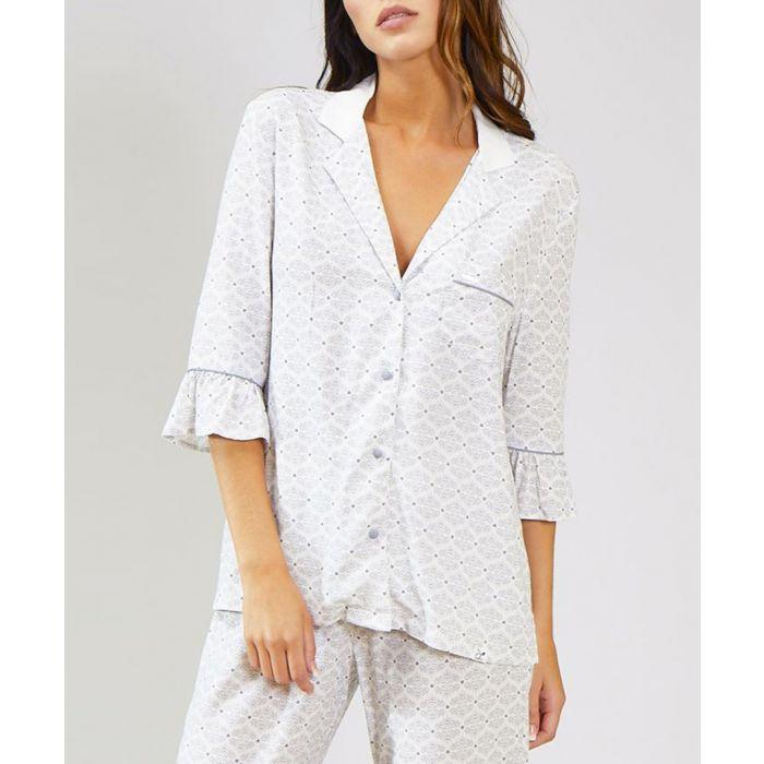 Image for Romance white print shirt