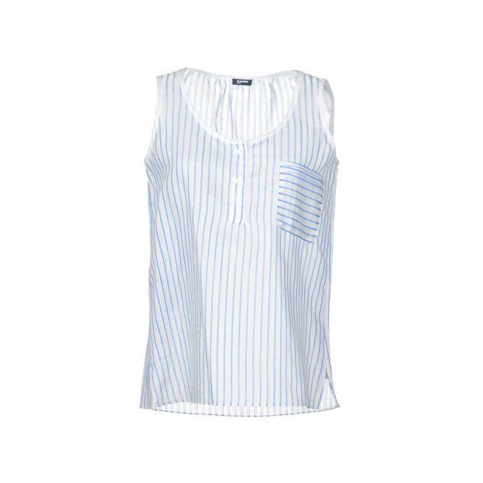 Image for Jil Sander Navy Sky blue Cotton Top