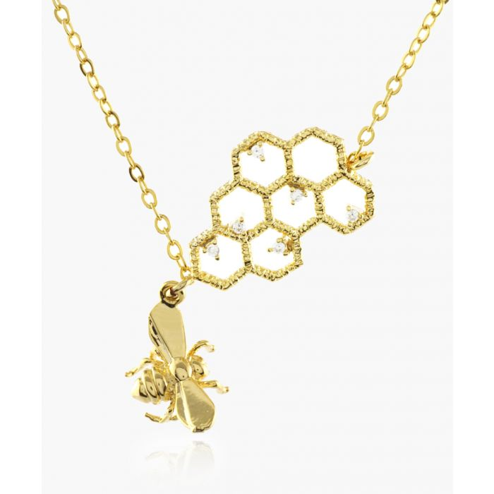 Image for Beehive 14k gold-plated necklace