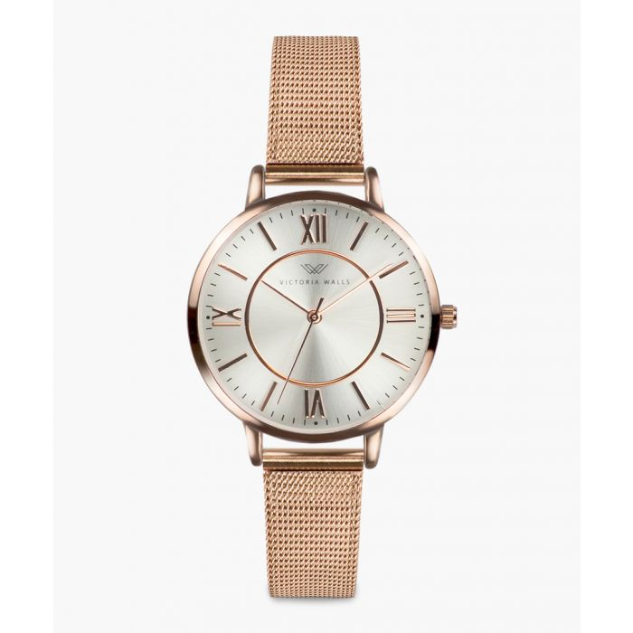 Image for Veronica rose gold-plated analogue watch