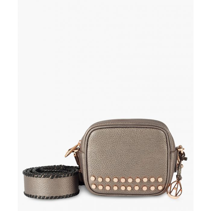 Image for Stud Bowie bronze-tone leather crossbody