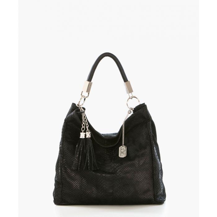 Image for Rosallia black leather shoulder bag