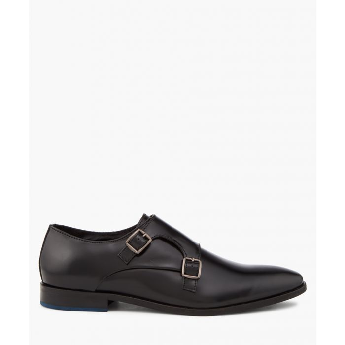 Image for Road Island black double monkstraps