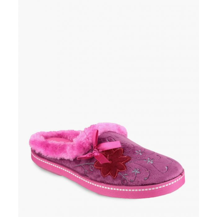 Image for Womens Fuchsia slippers