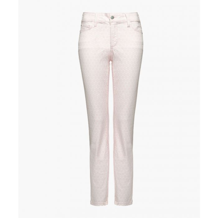 Image for Clarissa pink ankle optical dots jeans