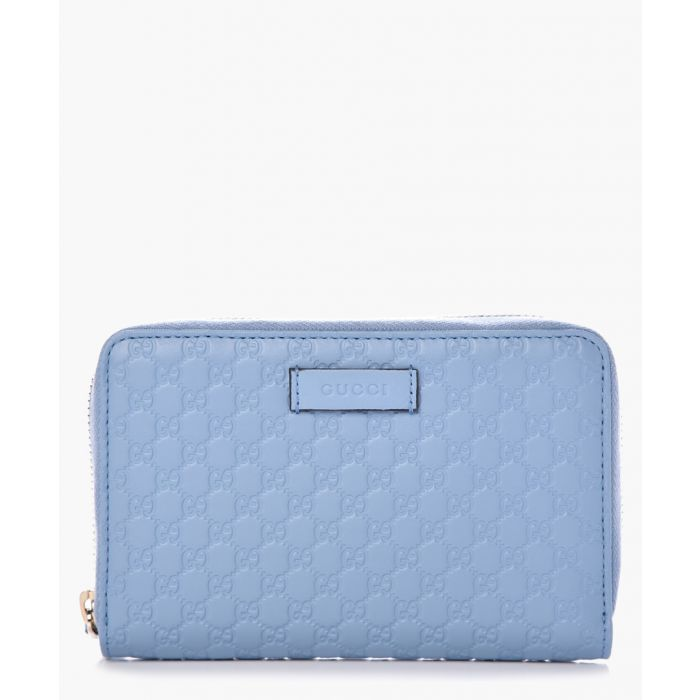 Image for Guccissima pale blue leather zip-up purse