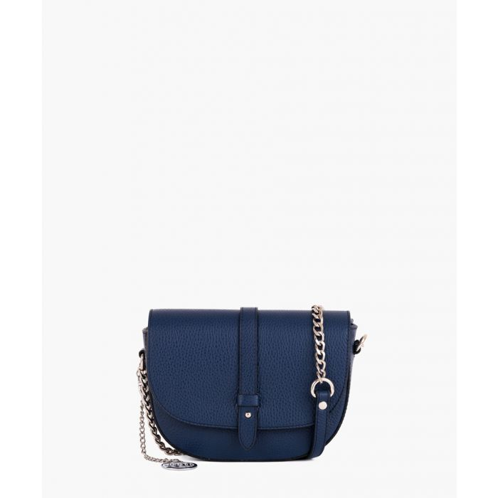Image for Blue leather crossbody bag