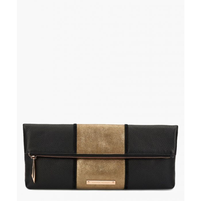 Image for Stripe Hoffman black leather clutch